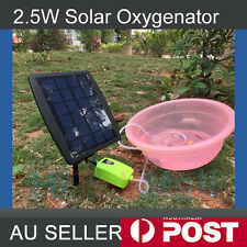 2.5W Solar Powered Panel Air Oxygenator Pond Pool Water Garden Air Pump Outdoor