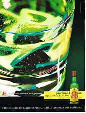 PUBLICITE ADVERTISING 104  2005  J & B  whisky liqueur de menthe & eau gazeuze