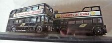 GUINNESS DIECAST BUSES Routemaster & Regent In Display Case