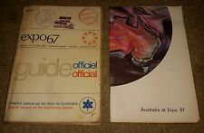BOOK LOT OF 2 - EXPO 67 Montreal CANADA Official Guide & Australia at Expo 67