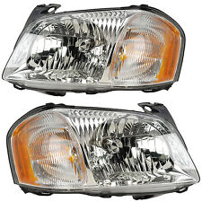 01-03 MAZDA TRIBUTE HEADLIGHTS FRONT LAMPS PAIR SET