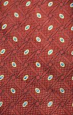 Dunhill Corbata Corbata Cravatta Cravate Diseñador 100% seda Sarga Tejido Pesado Rojo