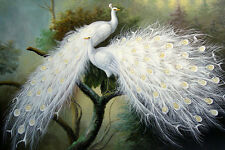 Modern sitting wall decor print oil painting art Feng Shui Peacock Painting d175