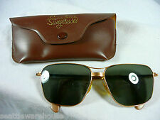 Vintage AO American Optical Gold Aviator orig. PILOT AVIATION SUNGLASSES  CN971