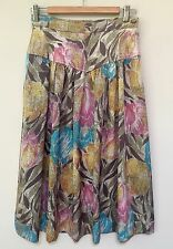 David Lawrence vintage floral skirt - size 8 to 10 - in Excellent Condition