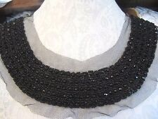 "11"" ***TOTALLY SOLID BEAD*** Neckline Applique BLACK  **FABULOUS**"