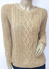 NWT OLD NAVY Authentic Women's Classic Cable Knit Crewneck Sweater, Size Med