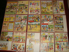 Greece 1980s complete set of 63 elementary school 1st grade educational posters