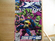 1992 VINTAGE MARVEL COMICS X-FACTOR # 74, NEW TEAM SIGNED BY PETER DAVID