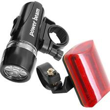 5 LED Bike Bicycle Front Head Light+Rear Tail Safety Flashlight Torch Waterproof