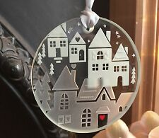 Spaceform Glass Christmas Keepsake Houses With Love Tree Decoration Bauble Xmas