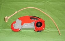 vintage Tomy Tron ORANGE LIGHT CYCLE with PULL CORD lot