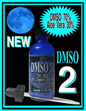 DMSO 2 with 30% Organic Aloe Vera Gel and 70% DMSO Pharma 99.9% Liquid + Dropper