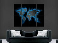 MAP OF THE WORLD GLO   ART WALL PICTURE POSTER  GIANT HUGE