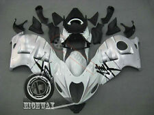 Bodywork Fairings Kit For Suzuki GSX1300R Hayabusa White Silver 1997-2007 2000 F
