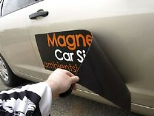 2 x Car Door MAGNETIC SIGN 600x200mm High Quality Printing FREE DESIGN