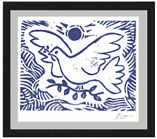 "Pablo Picasso Original Limited Ed. Print ""Blue Dove of Peace"" Hand-Signed w/COA"