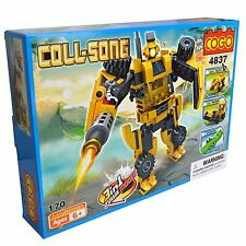 3 IN ONE Bulldozer Monster Robot Building Blocks Kids toyset NEW - 170 Pieces
