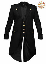 New Men's Steampunk Tailcoat Jacket Gothic Victorian Coat  Trench Coat Costume