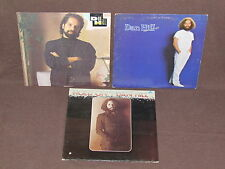 DAN HILL 3 LP RECORD ALBUMS LOT COLLECTION Hold On/Frozen in the Night/Self 1987