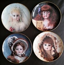Four Hanau Doll Museum Collector Plates (Colette, Madeline, Brighton & Sophie)