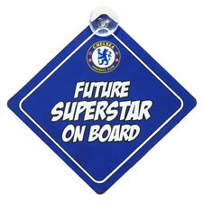 CHELSEA FC BABY ON BOARD CHILD SIGN CAR ACCESSORIES WINDOW NEW GIFT XMAS
