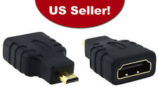HDMI Type A Female to Micro HDMI D Male Gold Plated Adapter Converter Connector