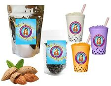 10+ Drinks Almond Boba Tea Kit: Tea Powder, Bubbles & Straws