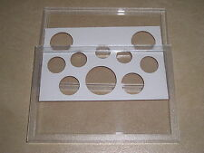 NEW HARD PLASTIC PERSPEX SANDHILL CASE FOR COIN SET 173x121 £4.50 FREE UK P&P