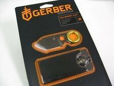 GERBER Titanium Coated GDC Money Clip + Compact Fine Edge Knife NEW IN CLAM PACK