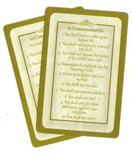 TEN 10 COMMANDMENTS  prayer card (Lot of 2 ) Laminated Christian prayer cards