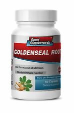 Goldenseal Root Hydrastis 520mg. Supports Immune System (1 Bottle) Free Shipping