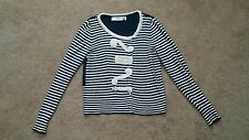"Anthropologie Sparrow ""Loose Lines"" Navy /White Striped Cardigan  ~Size M~"