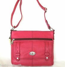 NEW FOSSIL MADDOX TOP-ZIP FLAMINGO PINK LEATHER SATCHEL,CROSSBODY,HAND BAG,PURSE