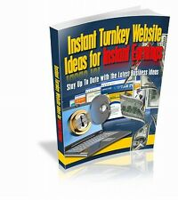 Instant Turnkey Website Ideas For Instant Earnings Get Online Cheaply & Quickly!