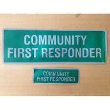 Encapsulated COMMUNITY FIRST RESPONDER Reflective Badge SET 300mm