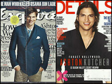 Ashton Kutcher 2 Magazine Lot Details 2011 Esquire 2013 Thom Yorke Peter Thiel
