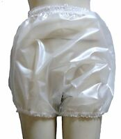 PVC Knickers Pants Panties Adult Baby Sissy Roleplay Hi Sides XXL PEARLY CLEAR