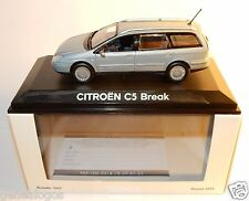 NOREV CITROEN C5 BREAK GRIS BLEUTE METAL REF 155551 IN BOX 1/43 NEUF