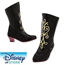Authentic Disney Store Girls Anna Costume Black Ice Boots Dress Up 11/12 Frozen