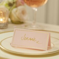 Pale Pink & Gold Foil Place Cards - Pastel Perfection - 10 pack