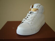 COACH White Leather RICHMOND TURN-LOCK GOLD SNEAKERS NEW 8