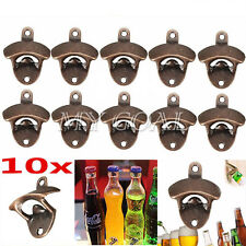 10x Red Brone Bar Wine Iron Collectable Wall Mounted Bottle Beer Cap Tool Opener