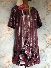 bnwt new look inspire bead 20s deco sequin gatsby flapper party dress tunic 26