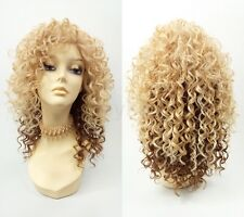 Pre-Trimmed Lace Front Blonde & Copper Long Spiral Curly Heat Resistant Wig 14""