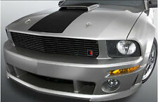 2005-2009 Roush Mustang GT BLACK 9 Bar Billet Grille Grill w/ R Emblem Badge
