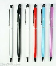 6X Capacitive 2in1 Touch Screen Stylus Ballpoint Pen for IPad IPhone IPod Tablet