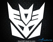 Transformers Decepticon Car Decal / Laptop Sticker - WHITE 3.5""