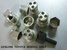 TOYOTA 21mm HEX LOCKING NUTS FOR OEM ALLOY WHEEL M12 X 1.5 FLAT SEAT WASHER CAPS