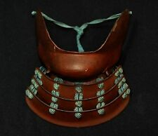Menpo Japanese Samurai Iron Face Mask Armor Yoroi Edo era from Japan #786
